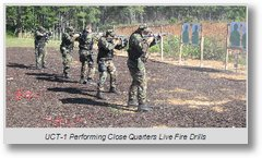UCT-1 performing close quarters live fire drills