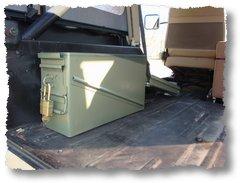 Locker box installed in Jeep